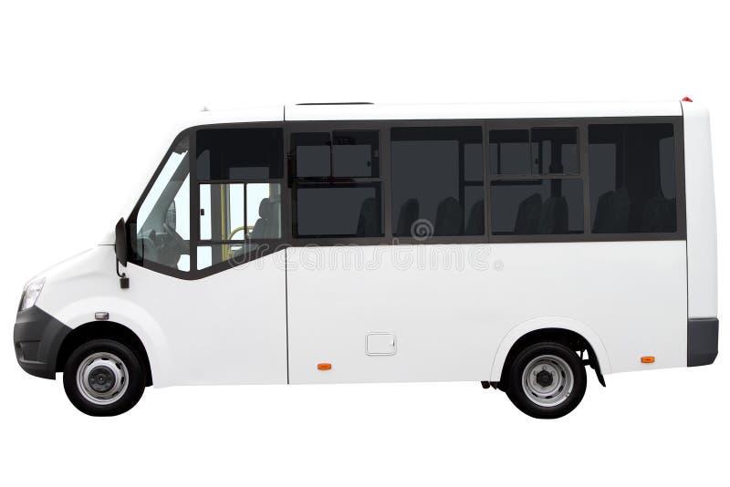 Biały minibus zdjęcia royalty free