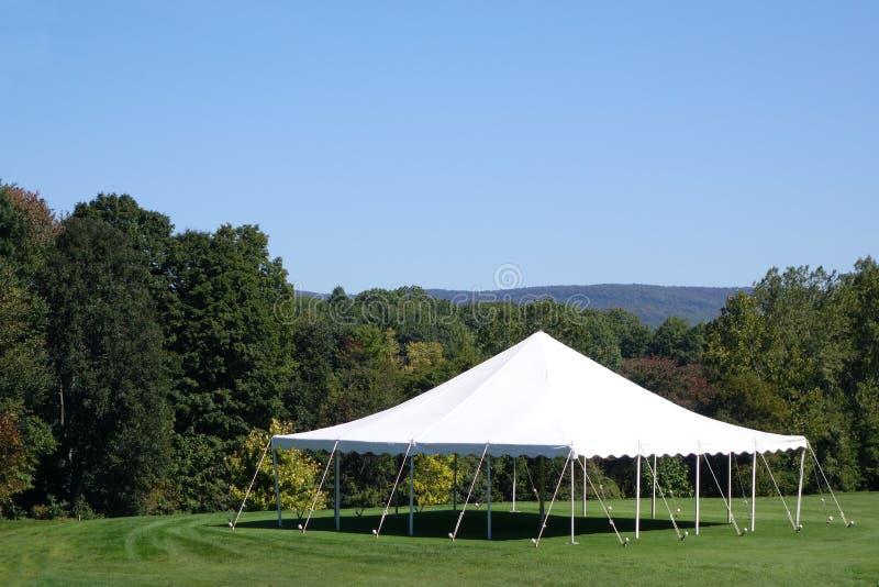 Biały namiot zdjęcia royalty free