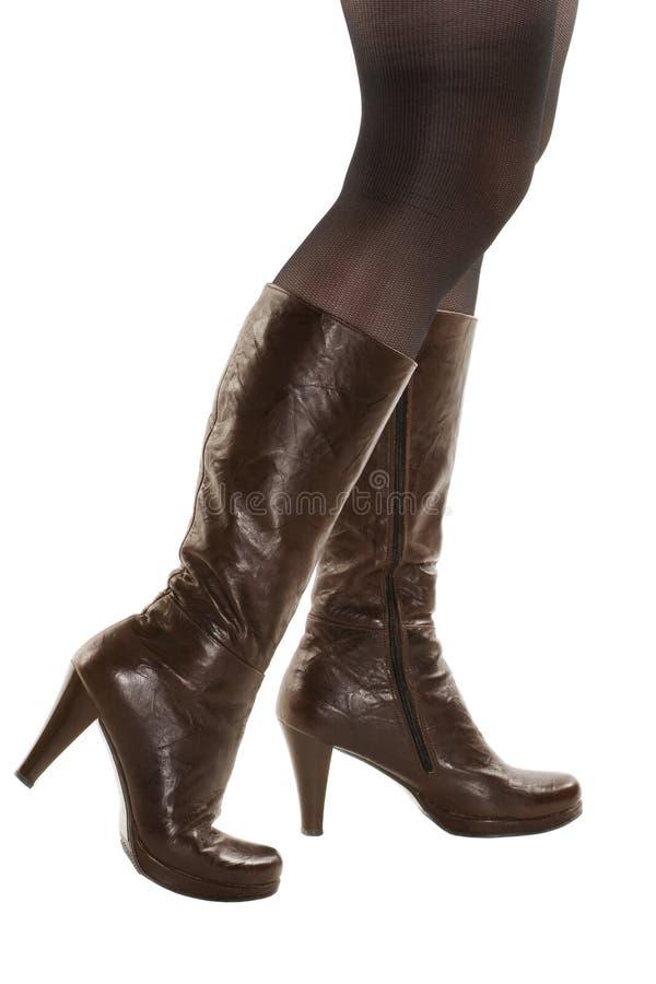 biały but nogi odosobnione rzemienne zdjęcia royalty free