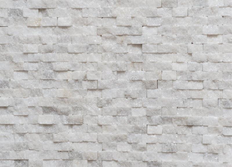 Biały nowożytny dekoracyjny ścienny mały marmurowy ceglany tła textur zdjęcie royalty free