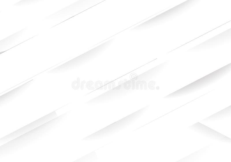 Biały Nowożytny Geometryczny tło Tekstura dla okładkowego projekta, strony internetowej tło, reklamuje wektor ilustracja wektor