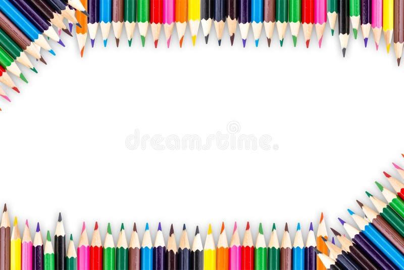 biały odosobneni colour ołówki obraz royalty free