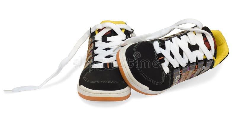 biały odosobneni działający buty obraz stock