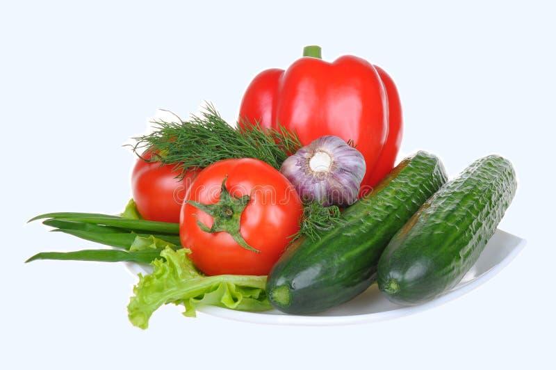 biały odosobneni tło warzywa obraz stock