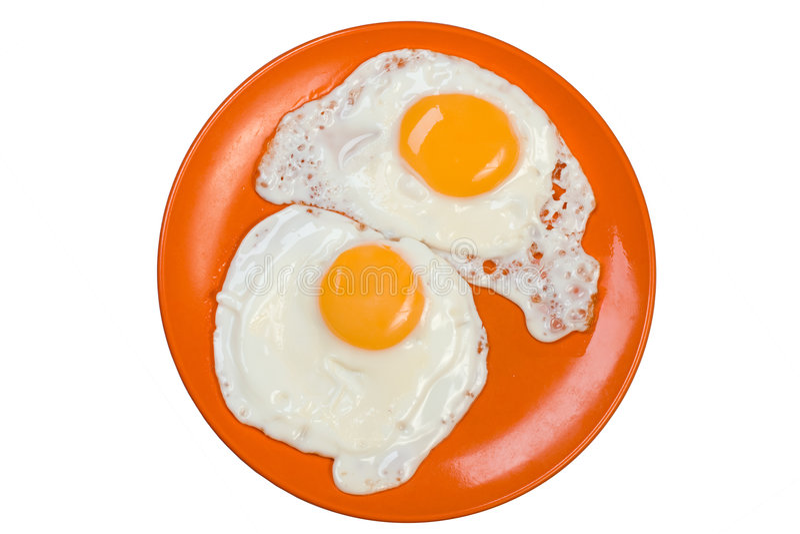 biały omlet izolacji obrazy stock