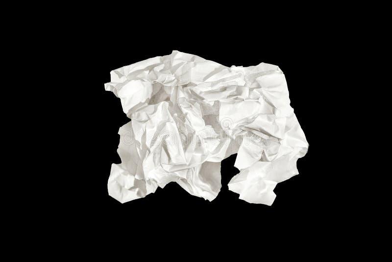 Biały papier odizolowywający na czarnym tle obrazy stock