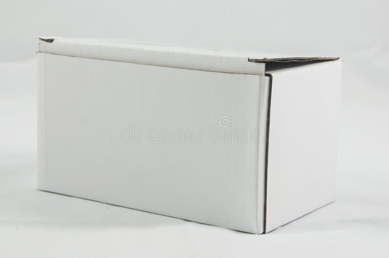 Biały papierowy pudełko obraz stock