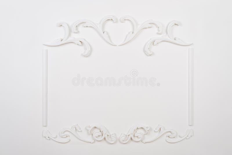 Biały piękny prostokątny stiuk zdjęcia stock