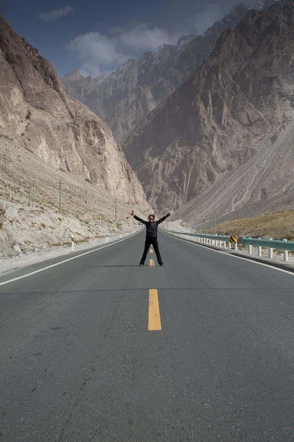 Biały Piasek jezioro, China's Xinjiang region obrazy royalty free