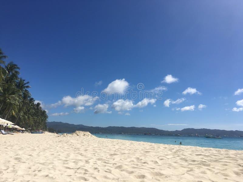 biały piasek na plaży zdjęcie stock