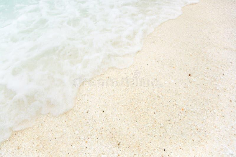 biały piasek na plaży fotografia stock