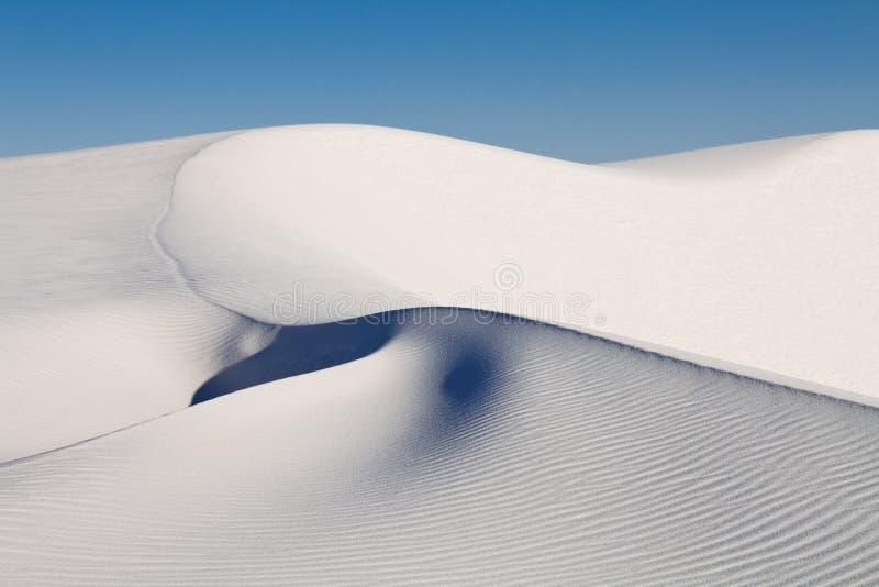 biały piasków wydmowi pomnikowi krajowi piaski fotografia royalty free