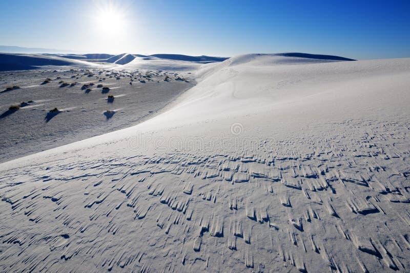 Biały piaska park narodowy obrazy royalty free
