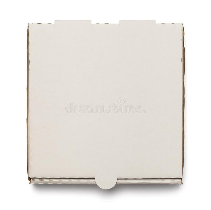 Biały pizzy pudełko zdjęcie stock