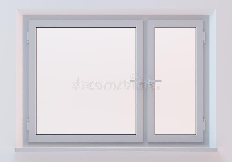 Biały plastikowy okno obrazy royalty free