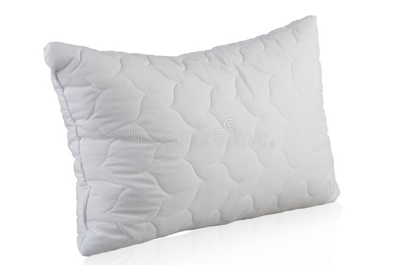 Biały poduszka obrazy stock