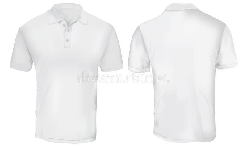 Biały polo koszula szablon royalty ilustracja