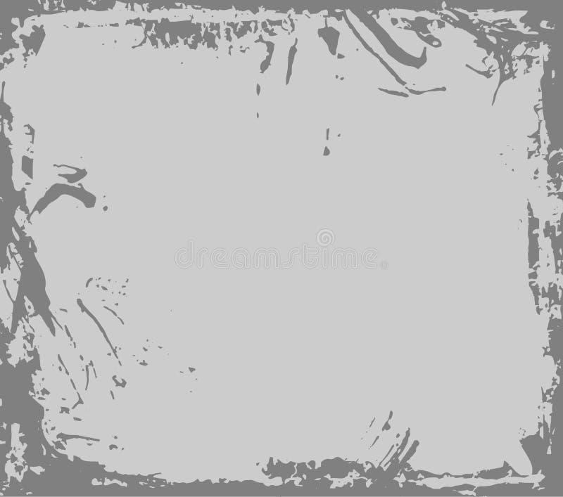 Biały porysowany metal Stara żelazo rama z rdzą i ryglami Brudny metalu prześcieradło ilustracja wektor