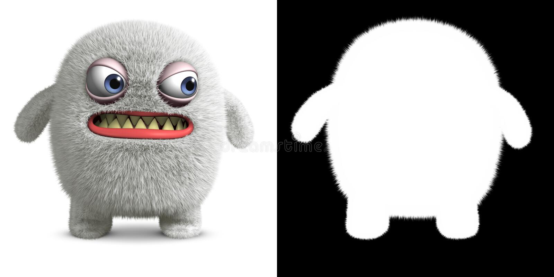 Biały potwór royalty ilustracja