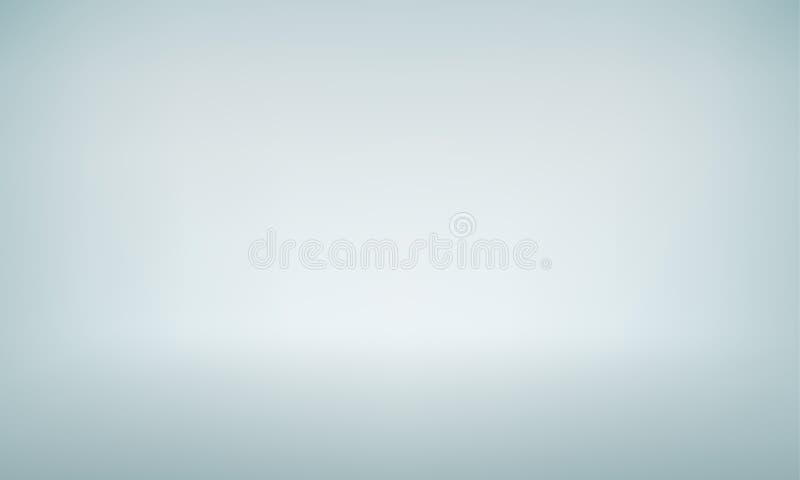 Biały pracowniany tło z światło reflektorów gradientem dla premii, luksusowa produkt strzelanina ilustracji