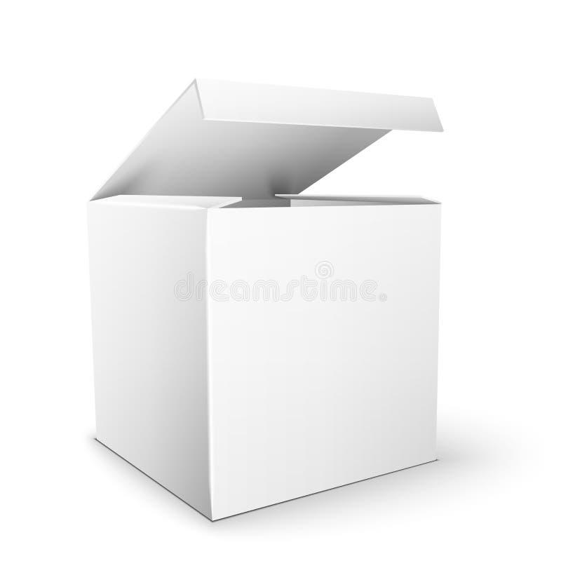 Biały produktu pakunku pudełka egzamin próbny W górę szablonu royalty ilustracja