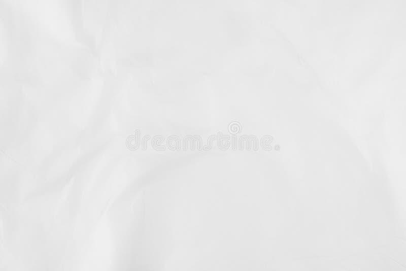 Biały prześcieradło papier z drobnymi chyłami obraz royalty free