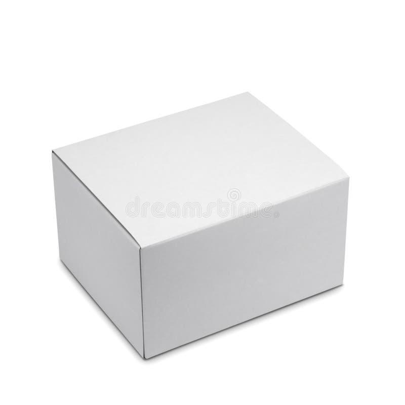 Biały pudełko fotografia royalty free