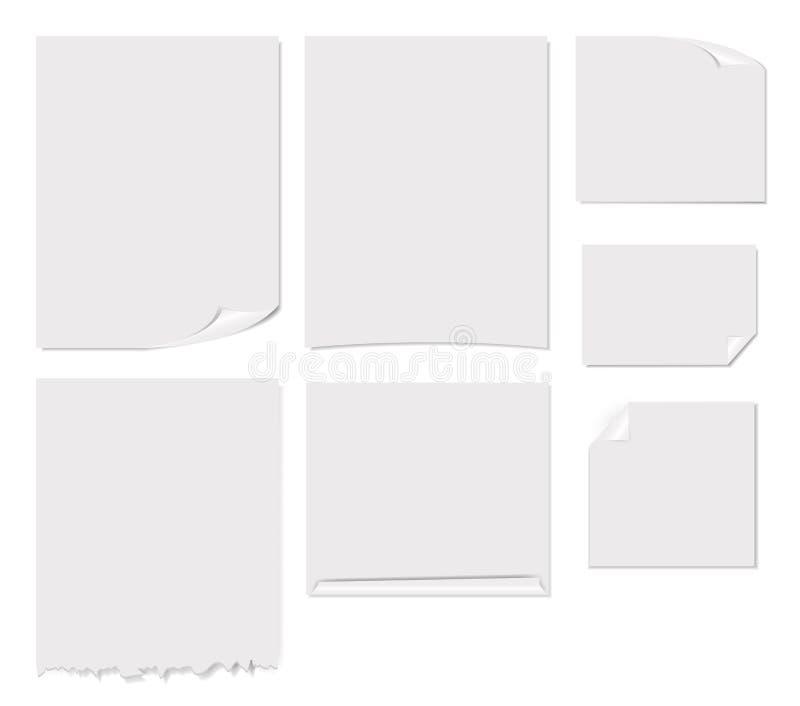 Biały pustej strony wektoru ilustracja ilustracji