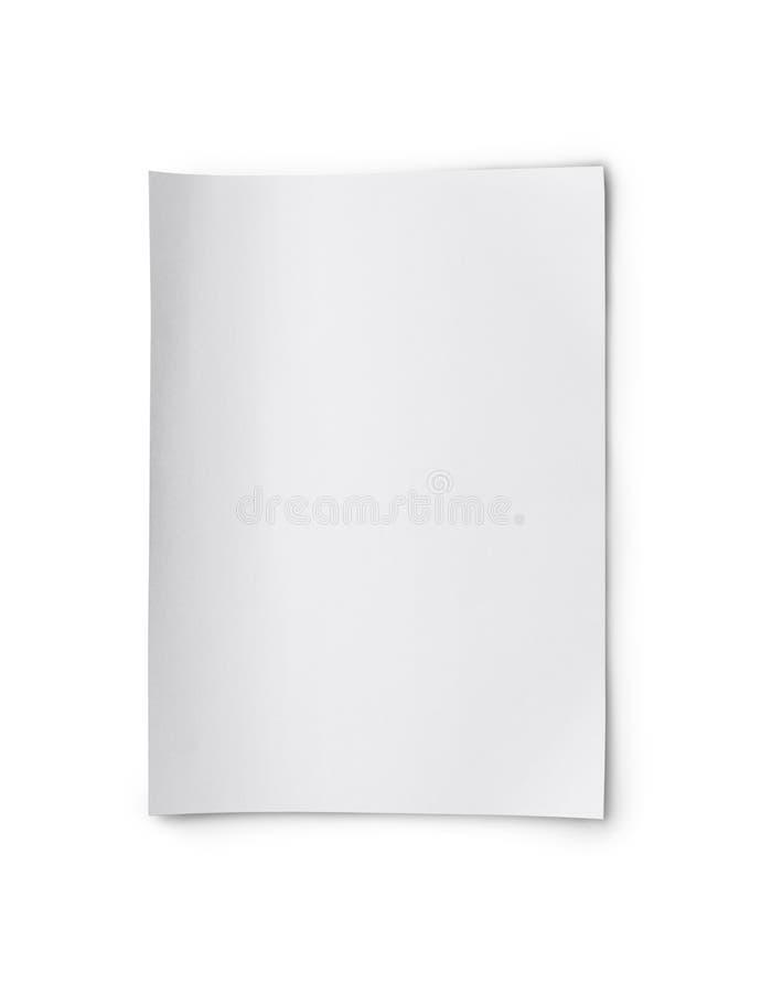 Biały pusty prześcieradło papier zdjęcia stock