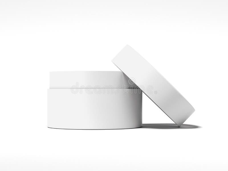 Biały pusty słój dla śmietanki świadczenia 3 d fotografia stock