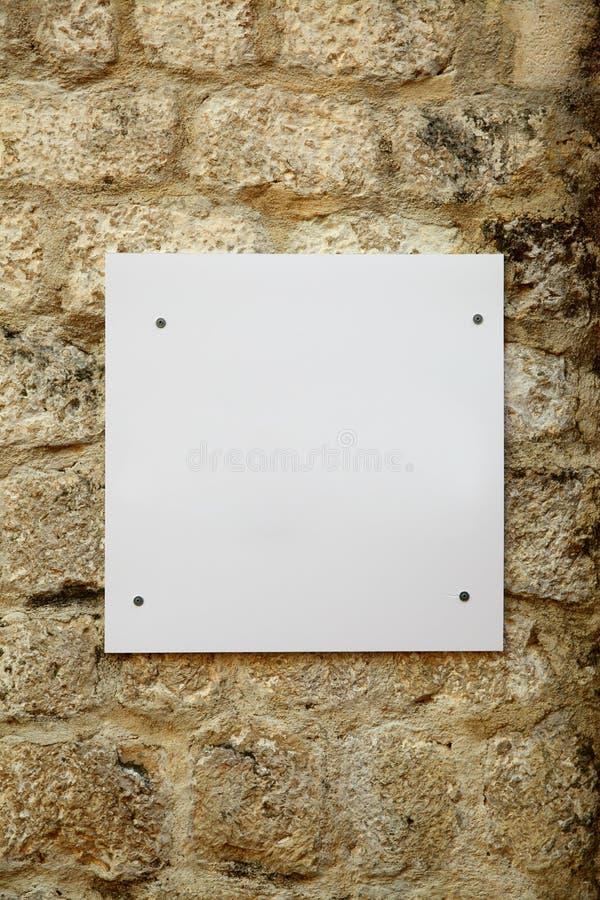Biały Pusty Signboard obraz royalty free