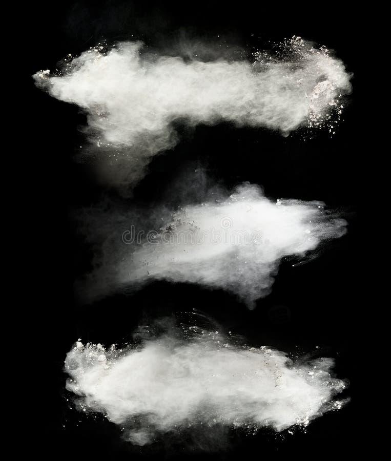 Biały pył obrazy stock