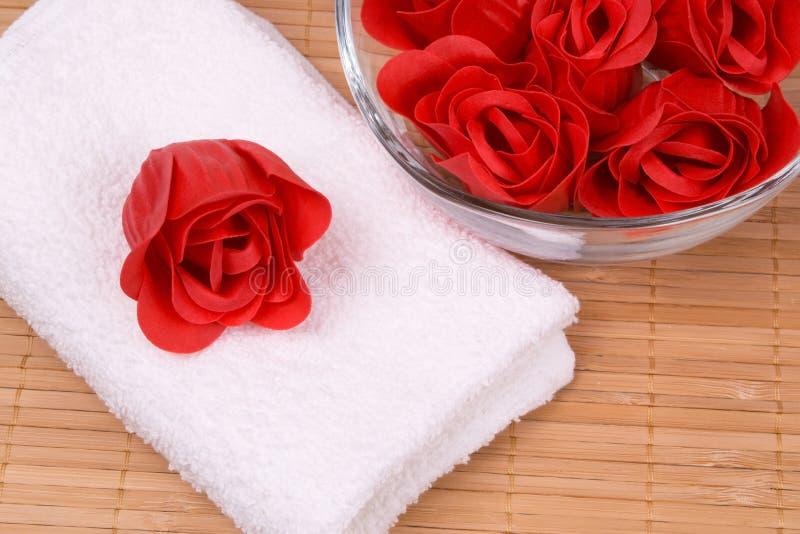 Mydło i ręcznik fotografia royalty free