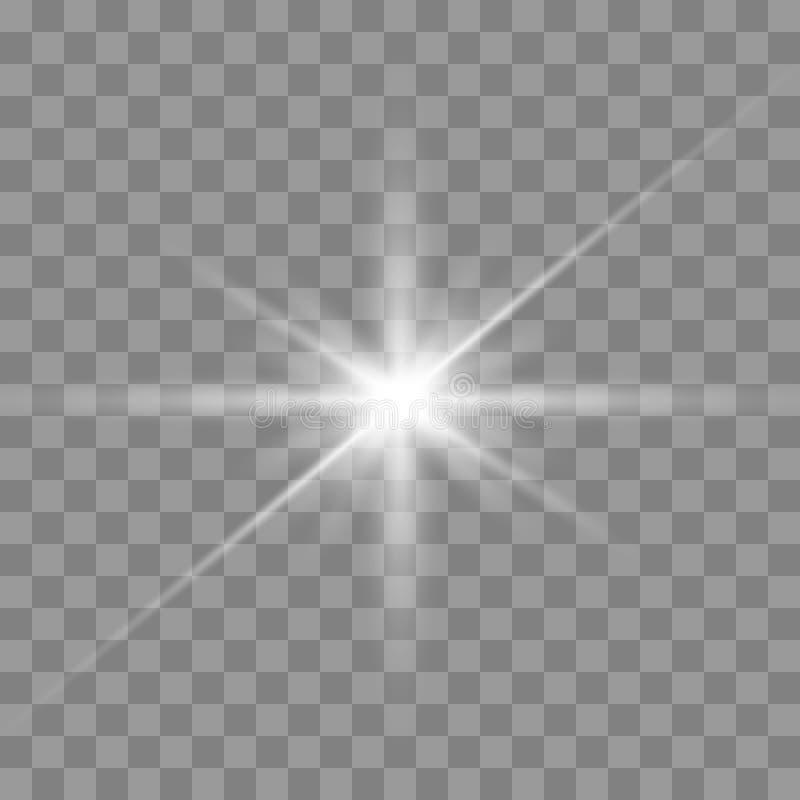 Biały rozjarzony światło ilustracji