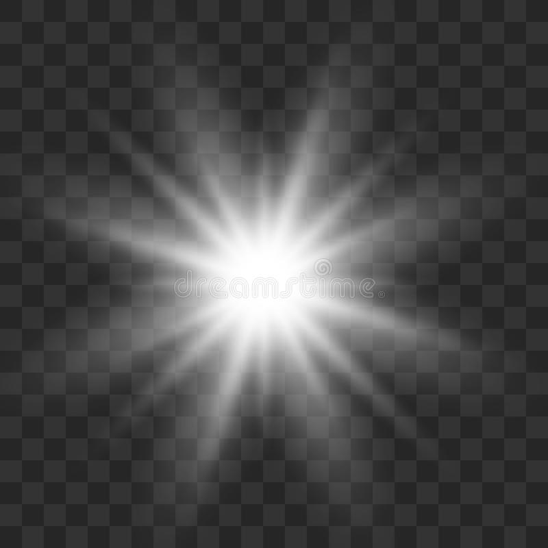 Biały rozjarzony światło royalty ilustracja