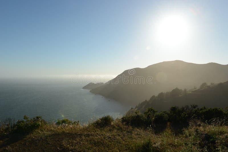 Biały słońce San Fransisco zdjęcie stock