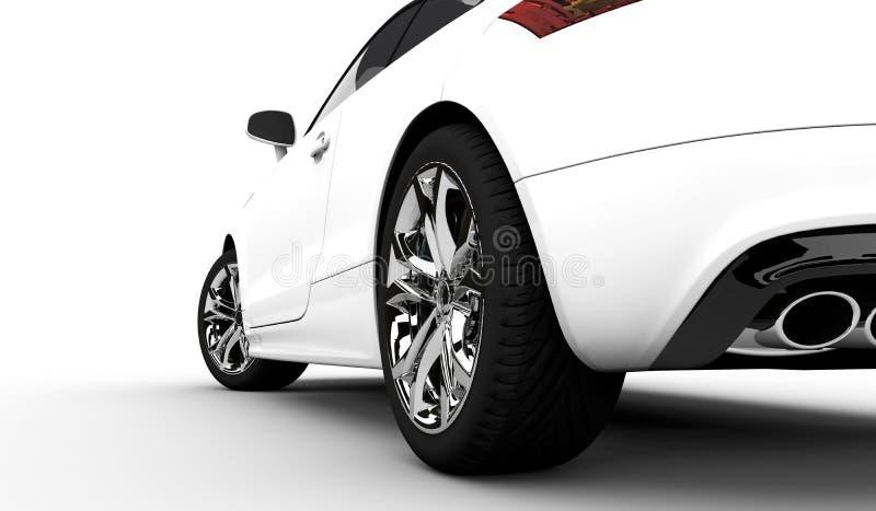 Biały samochód royalty ilustracja
