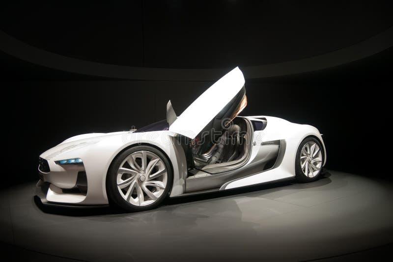 biały samochodowi sporty zdjęcia stock