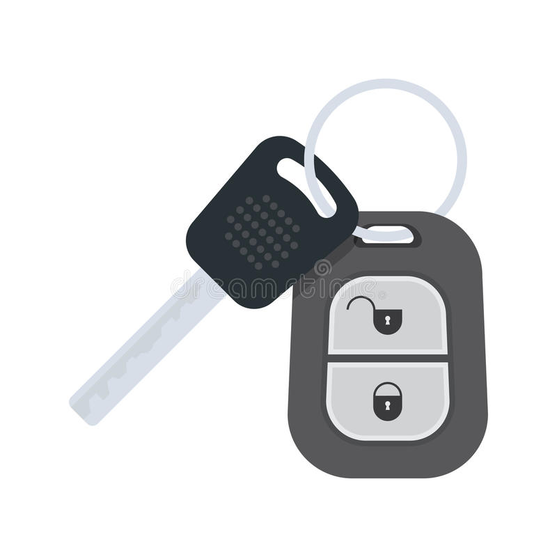 biały samochodowi tło klucze ilustracja wektor