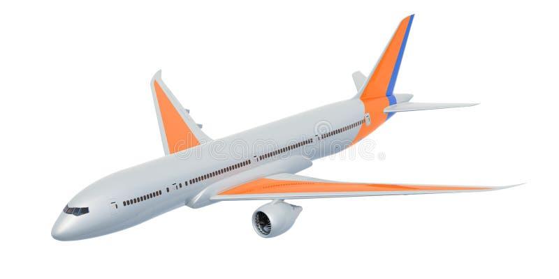 Biały samolot, 3D rendering royalty ilustracja