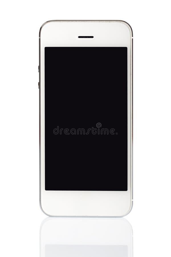Biały smartphone odizolowywający zdjęcia stock