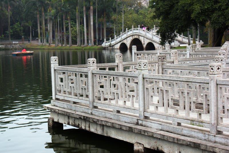 Biały Smok jezioro w ludziach ` s parka, Nanning, Chiny fotografia stock