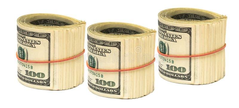 biały spójka dolary fotografia royalty free