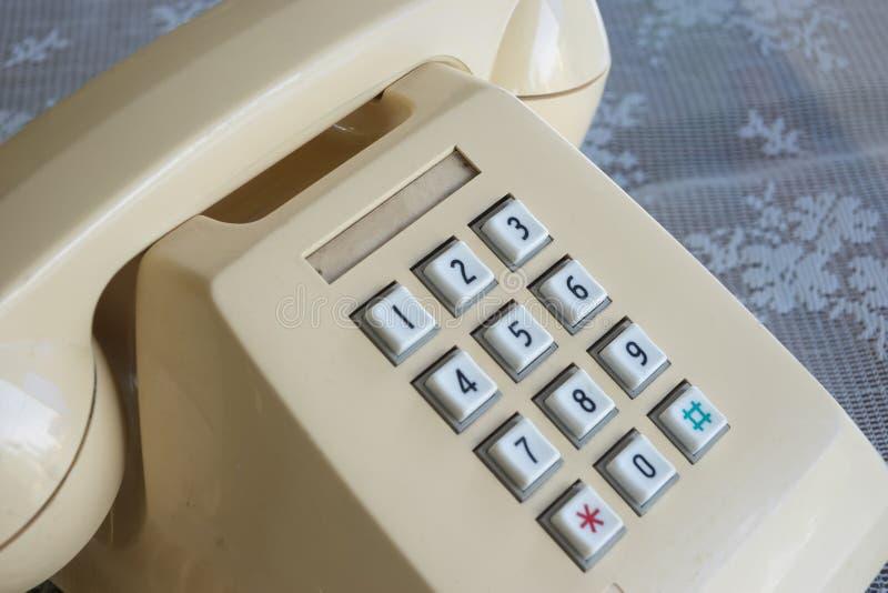 Biały stary telefon obrazy stock
