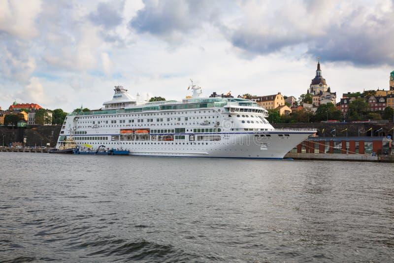Biały statek zdjęcie stock