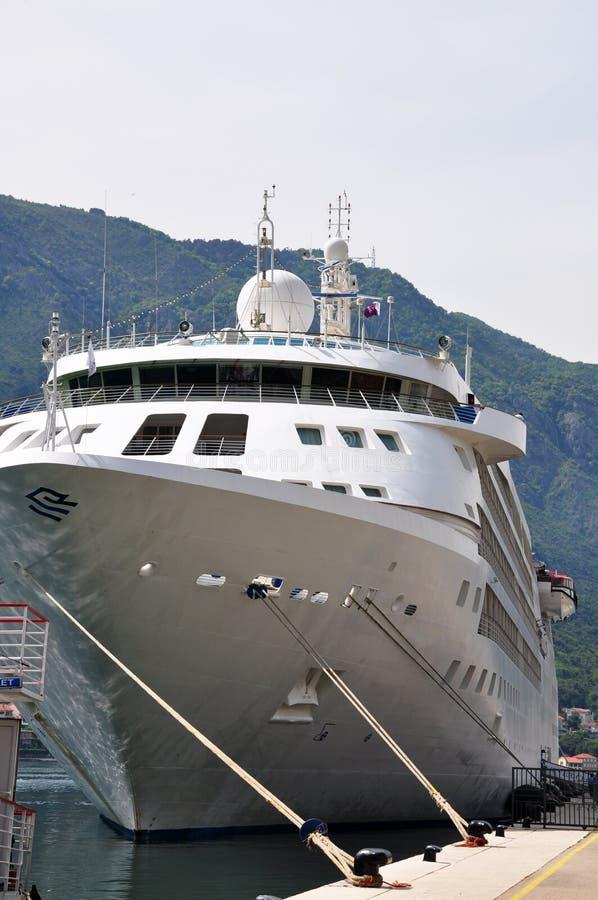 Biały statek zdjęcia royalty free