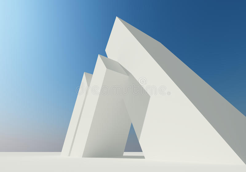 Biały struktura abstrakcjonistyczny budynek royalty ilustracja