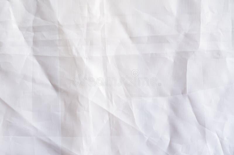 Biały Syntetycznej tkaniny tło fotografia royalty free