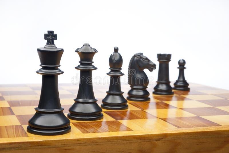biały szachowi kawałki zdjęcia royalty free