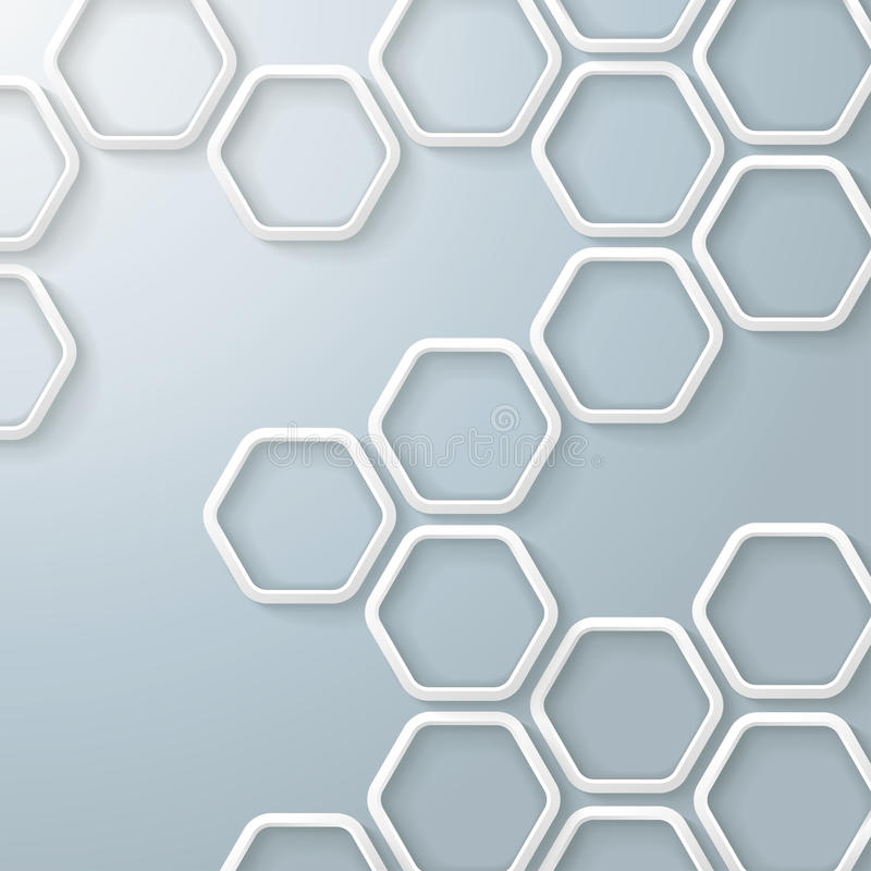 Biały sześciokąta Honeycomb Infographic ilustracja wektor